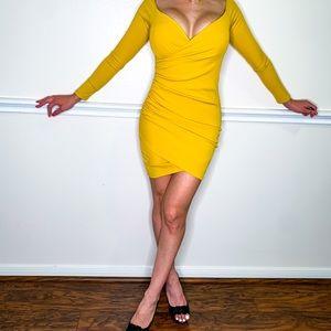 Fashion nova Yellow mini dress